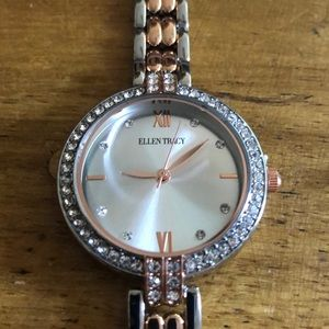 Ellen Tracy 2 tone watch